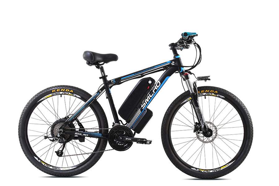 "E-bike smlro - c6 black/blue - 26"" mtb"