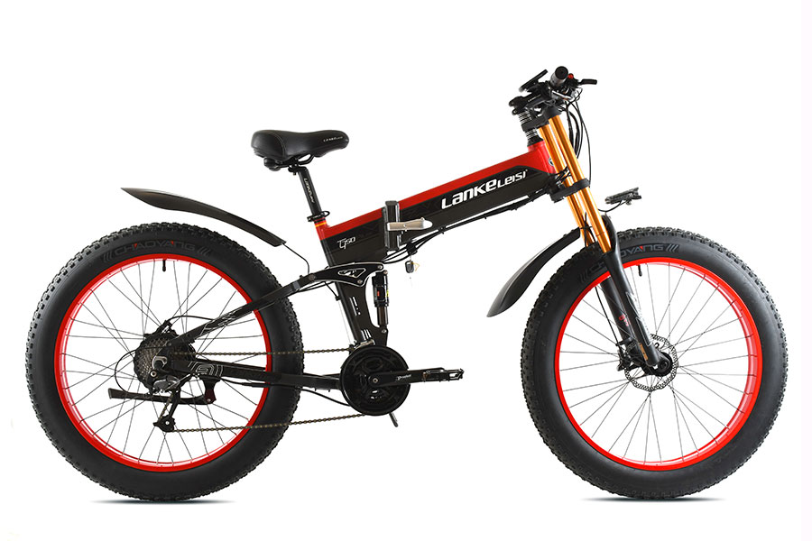 "E-bike lankeleisi al6061 xt750plus 26"" black/red"