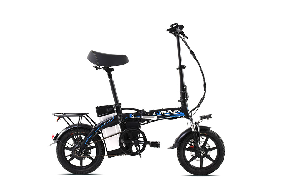 "E-bike lankeleisi -r9 - 14""black folding"